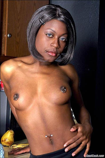 Where Black girl with pierced clit